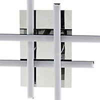 Alani Chrome effect Quadruple Wall light