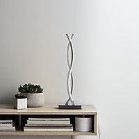 GoodHome Alani Chrome effect LED Table light