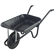 Walsall Endurance Black Steel Heavy duty Wheelbarrow 85L