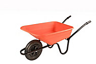 B&Q Sovereign Orange Metal Wheelbarrow 90L