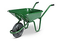 Walsall Contractor builders Green Steel Wheelbarrow 90L