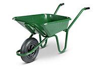 Walsall Contractor Builders Green 90L Wheelbarrow