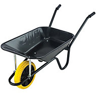 Walsall Black Metal Heavy duty Wheelbarrow 85L