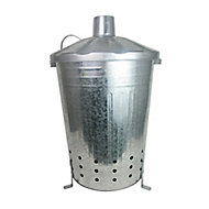 Steel 90L Incinerator (H)710mm (W)500mm (L)460mm