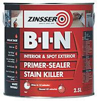 Zinsser B-I-N White Matt Matt Primer sealer 2.5L