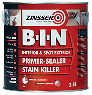 Zinsser B-I-N White Multi-surface Matt Primer, 2.5L