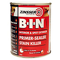 Zinsser B-I-N White Multi-surface Matt Primer, 1L