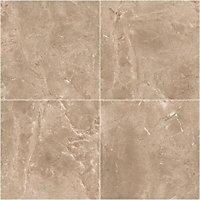 Burlington Earth Stone effect Ceramic Wall & floor tile, Pack of 4, (L)498mm (W)498mm