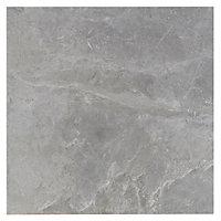 Burlington Pebble Stone effect Ceramic Wall & floor tile, Pack of 4, (L)498mm (W)498mm