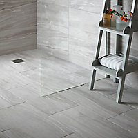 Fossilised wood Pebble Matt Stone effect Ceramic Wall & floor tile, (L)97mm (W)97mm, Sample