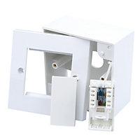 Tristar Raised White Single outlet kit