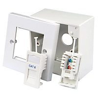 Tristar Raised White Dual outlet kit