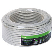 Tristar Cat 6 Grey Cable, 25m