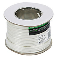 Tristar White 8 core Telephone cable, 50m