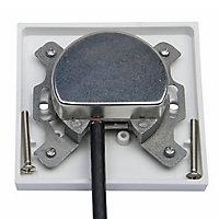 Tristar White Double Coaxial & satellite socket