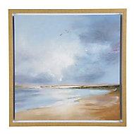Arthouse Morning flight Blue Canvas art (H)600mm (W)600mm