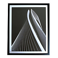 Infinity geometric Mono Framed print (H)440mm (W)830mm