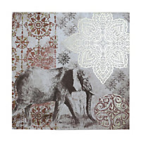Elephant Canvas art (H)800mm (W)400mm