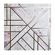 Dream geometric Blush Canvas art (H)400mm (W)400mm