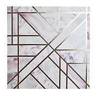 Dream geometric Blush Canvas art (H)400mm (W)400mm