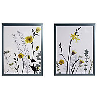 Wildflower Multicolour Framed print (H)400mm (W)400mm