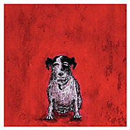 The Art Group Small dog Red Canvas art (H)400mm (W)400mm