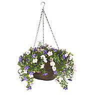 Smart Garden Multicolour Pertunia artificial Hanging basket, 30cm