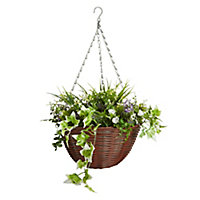 Smart Garden Multicolour Easy artificial Hanging basket, 30cm