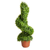 Smart Garden Boxwood effect Spiral artificial topiary tree 300 mm