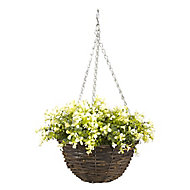 Smart Garden Multicolour Petunia artificial Hanging basket, 25cm