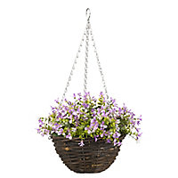 Smart Garden Purple Pansy artificial Hanging basket, 25cm