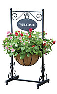 Gardman Traditional Georgian Black Welcome planter (H)910mm