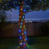 Solar Firefly Solar-powered Multicolour 100 LED Outdoor String lights