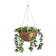 Smart Garden Multicolour Trailing lilies artificial Hanging basket, 30cm