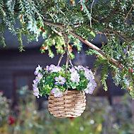 Smart Garden Purple flower basket Artificial topiary