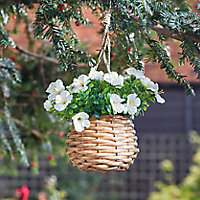 Smart Garden White flower basket Artificial topiary