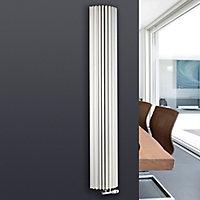 Jaga Iguana Circo Vertical Designer radiator White (H)1800 mm (W)278 mm