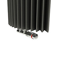 Jaga Iguana Circo Vertical Designer radiator Sandblast grey (H)1250 mm (W)270 mm
