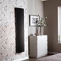 Jaga Iguana Arco Vertical Designer radiator Sandblast grey (H)1800 mm (W)410 mm