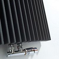 Jaga Iguana Arco Vertical Designer radiator Anthracite (H)1800 mm (W)519 mm