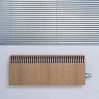 Jaga Knockonwood Horizontal Wooden cased radiator Oak veneer (H)550 mm (W)1000 mm
