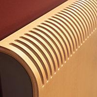 Jaga Knockonwood Horizontal Wooden cased radiator Beech veneer (H)300 mm (W)1000 mm