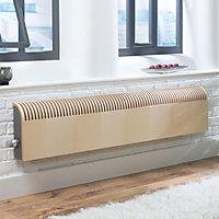 Jaga Knockonwood Horizontal Wooden cased radiator Maple veneer (H)300 mm (W)1000 mm