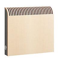 Jaga Knockonwood Horizontal Wooden cased radiator Maple veneer (H)550 mm (W)600 mm