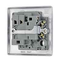 British General 13A Brushed Steel effect Switched Fused connection unit