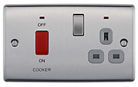 Nexus 45A Single Switched Cooker switch & socket