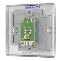 Nexus Stainless steel effect Single Coaxial socket