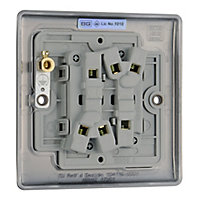 British General 10A 2 way Polished black nickel effect Double Light Switch