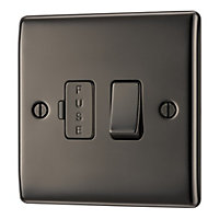 British General 13A Black Nickel effect Switched Fused connection unit