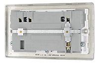 British General Nickel effect Double USB socket, 2 x 2.1A USB